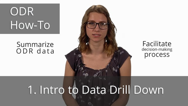 ODR Data Drill Down, Part 1: Intro to Data Drill Down