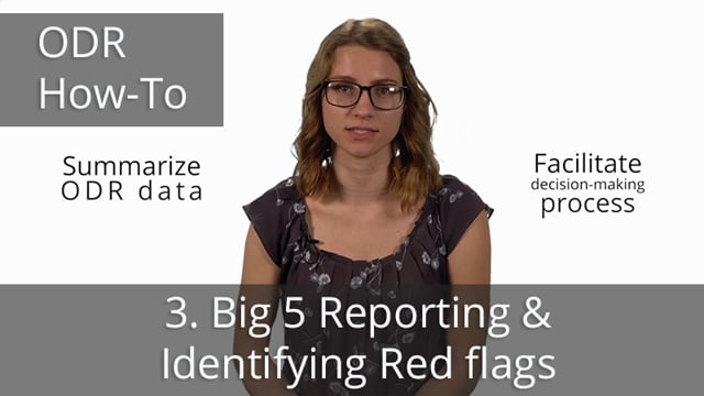 ODR Data Drill Down, Part 3: Big 5 Report and Identifying Red Flags