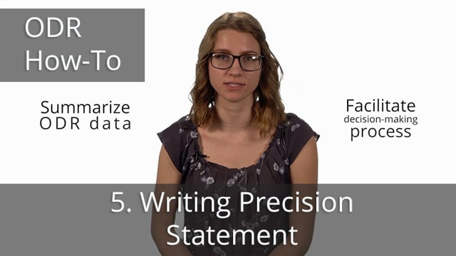 ODR Data Drill Down, Part 5: Writing Precision Statement