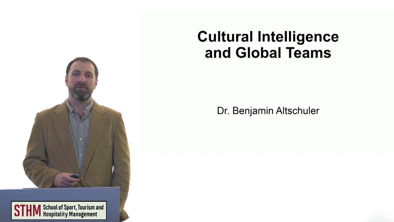 61113Cultural Intelligence and Global Teams