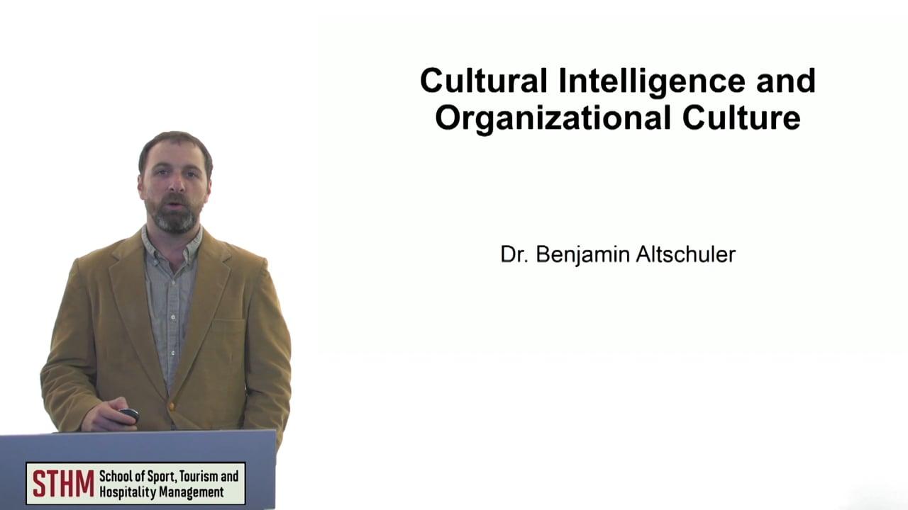 61112Cultural Intelligence and Organizational Culture