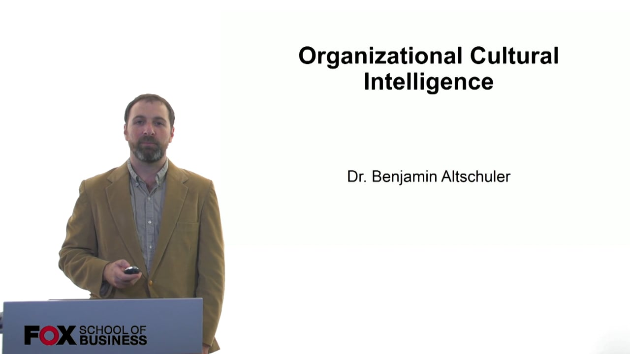 61114Organizational Cultural Intelligence