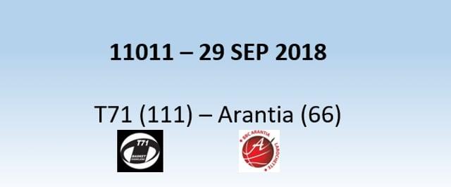N1H 11011 T71 Dudelange (111) - Larochette (66) 29/09/2018