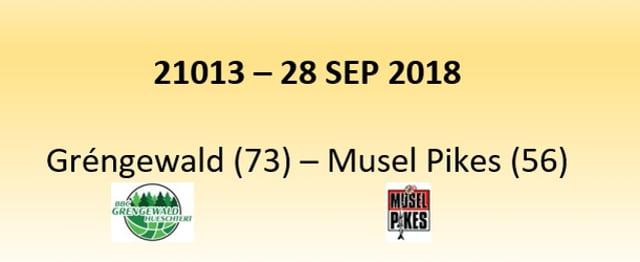 N1D 21013 Grengewald Hostert (73) - Musel Pikes (56) 28/09/2018