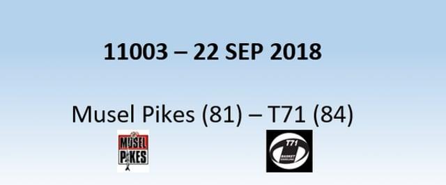 N1H 11003 Musel-Pikes (81) - T71 Dudelange (84) 22/09/2018