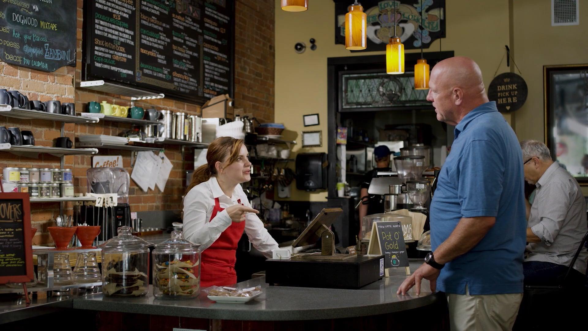 COFFEE SHOP - Jeff Belzer's TV Commerical