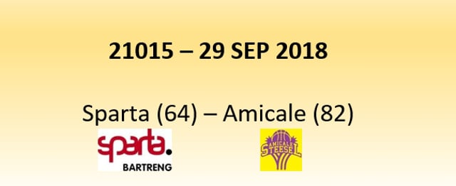 N1D 21015 Sparta (64) - Amicale (82) 29/09/2018