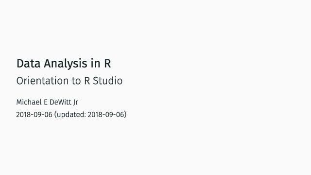 Intro to RStudio (1 of 6)
