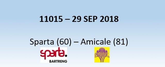 N1H 11015 Sparta (60) - Amicale (81) 29/09/2018