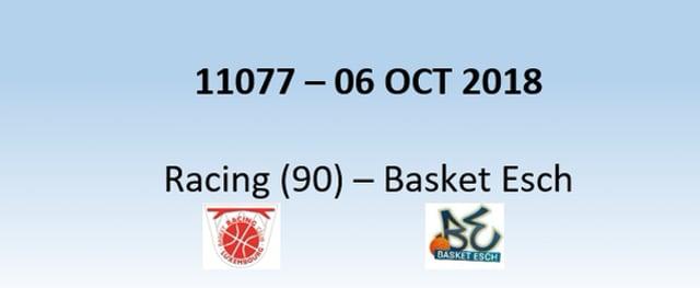 N1H 11027 Racing (90) - Basket Esch (73) 06/10/2018
