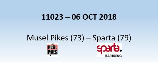 N1H 11023 MuselPikes (73) - Sparta (79) 06/10/2018