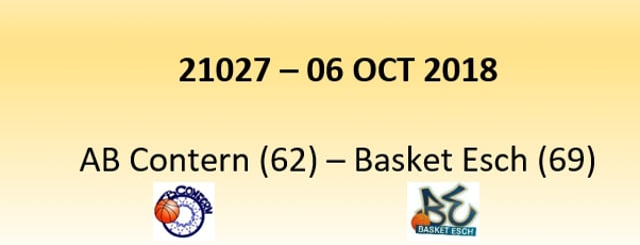 N1D 21027 AB Contern (62) - Basket Esch (69) 06/10/2018