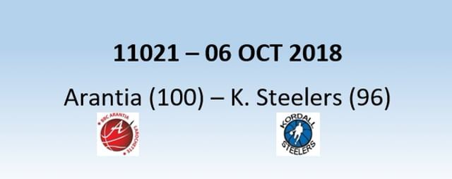 N1H 11021 Arantia (100) - Kordall Steelers (96)