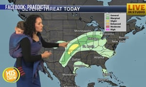 Meteorologist Mom Wears Baby During Forecast