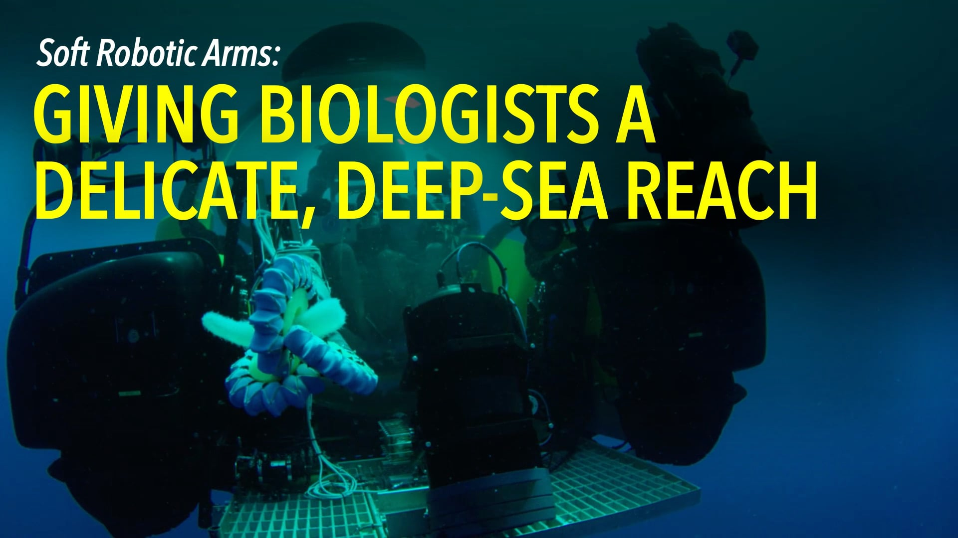 Soft Robotic Arms: Giving Biologists a Delicate, Deep-sea Reach