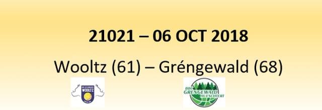 N1D 21021 Wiltz (61) - Grengewald Hostert (68) 06/10/2018