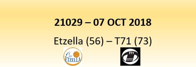 N1D 21029 Etzella (56) - T71 (73) 07/10/2018