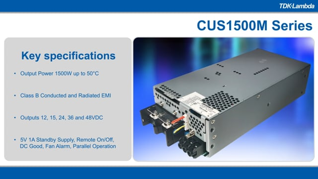 CUS1500M 1500W Medical and Industrial Power Supplies Video