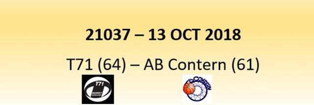 N1D 21037 T71 Diddeleng (64) - AB Contern (61) 13/10/2018