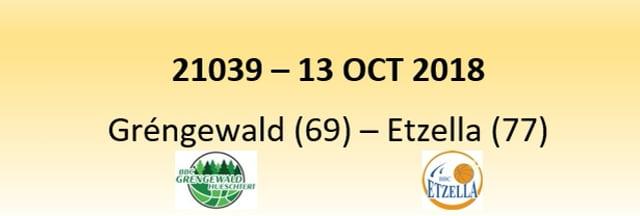 N1D 21039 Grengewald Hostert (69) - Etzella Ettelbruck (77) 13/10/2018