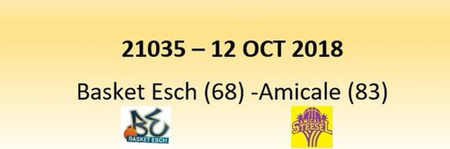 N1D 21035 Basket Esch (68) - Amicale (83) 12/10/2018