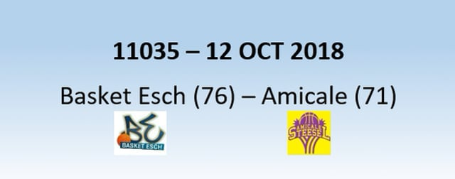 N1H 11035 Basket Esch (76) - Amicale Steinsel (71) 12/10/2018