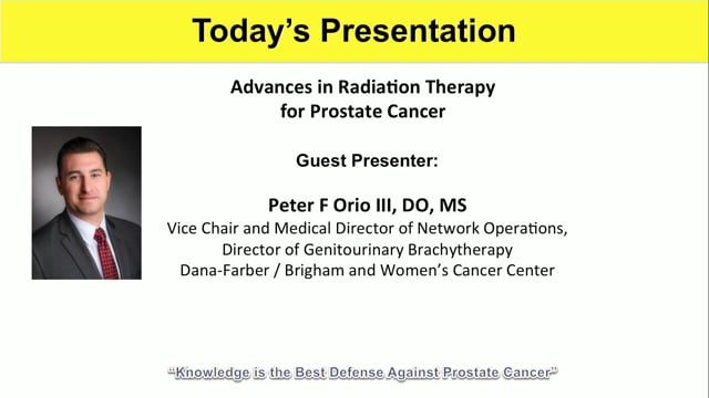 Advances in Radiation Therapy for Prostate Cancer with Dr. Peter Forio, III