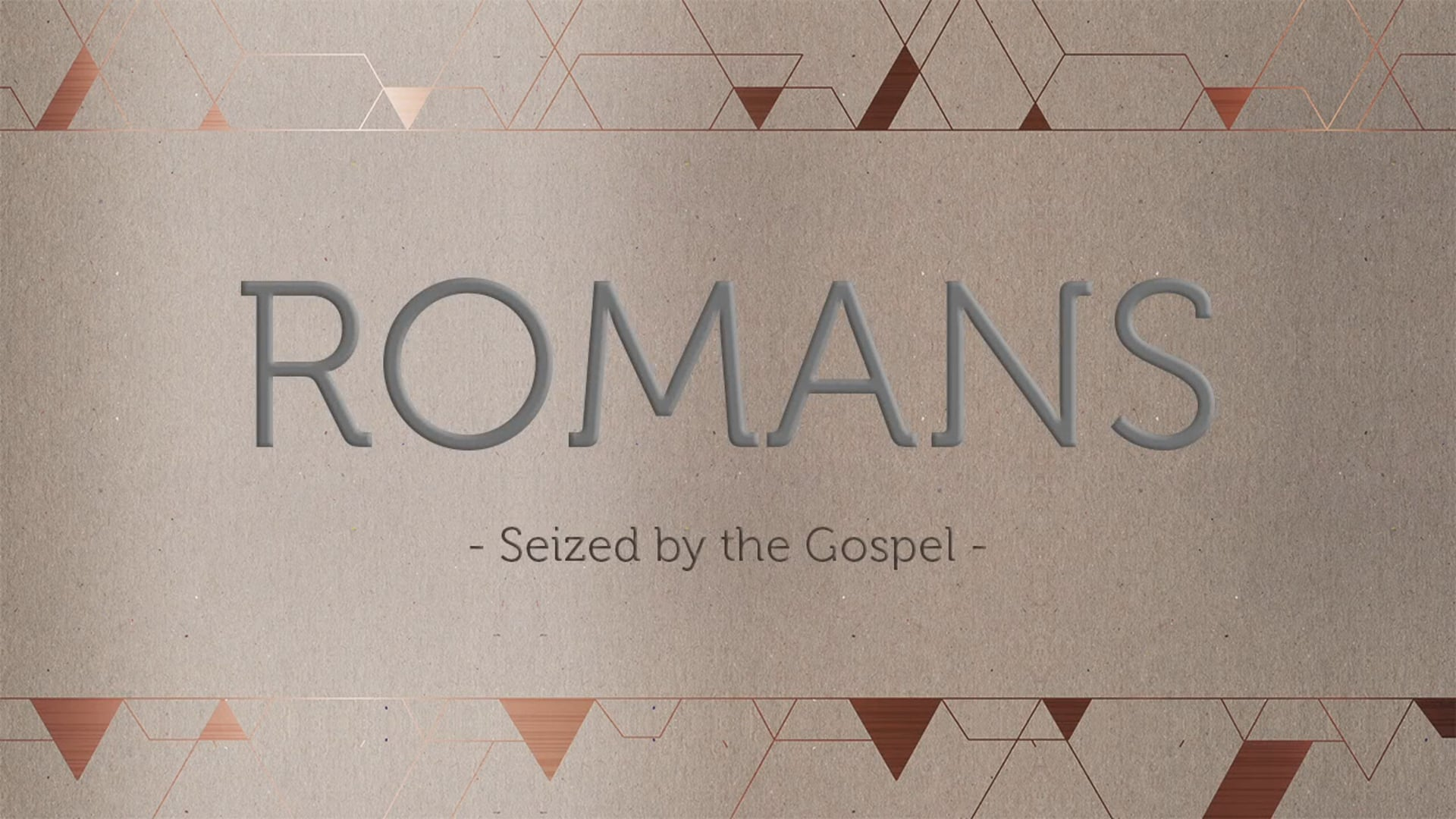 Week 6- Nothing But the Blood: Romans 3:21- 26
