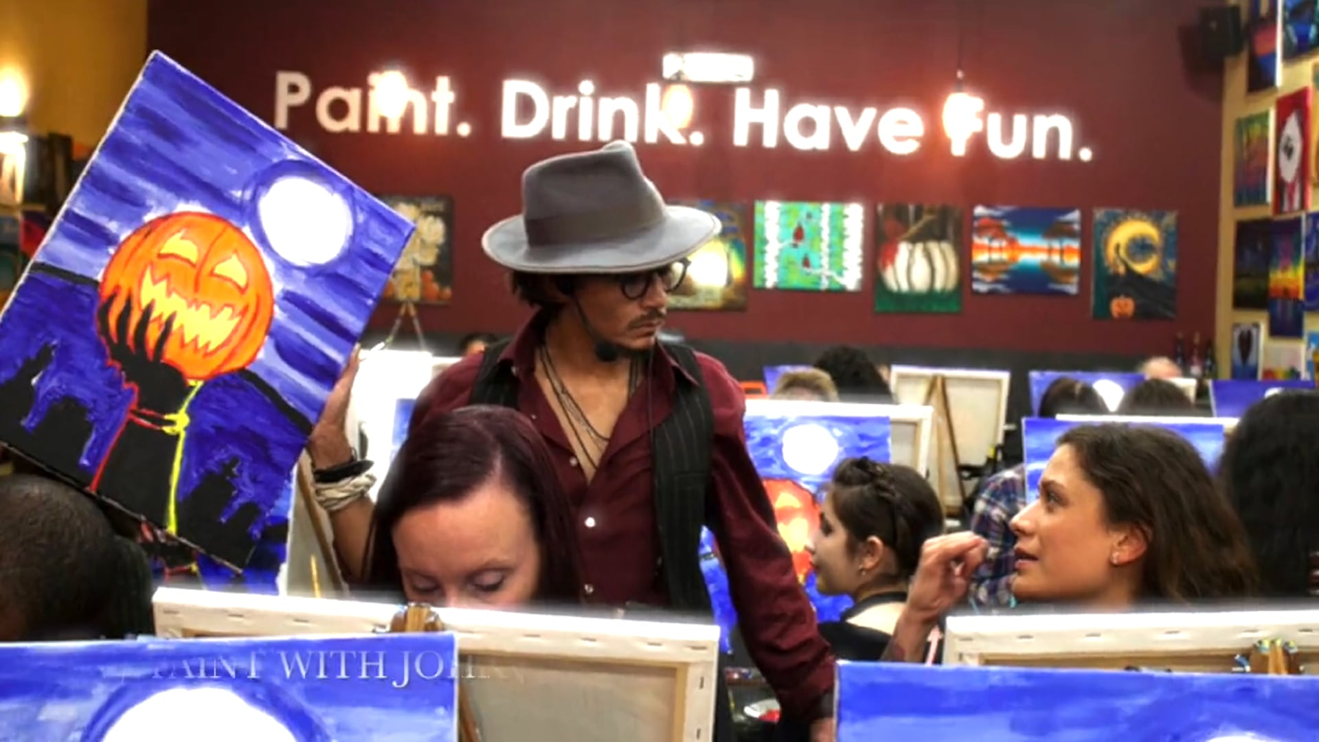 Oct 25th -Paint with Johnny Depp @ Pinot's Palette, Red Bank NJ