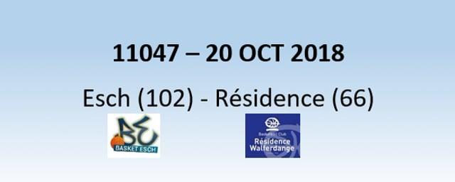 N1H 11047 Basket Esch (102) - Résidence (66) 20/10/2018