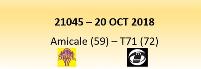 N1D Amicale Steinsel (59) - T71 Dudelange (72) 20/10/2018