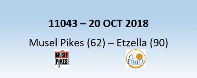N1H 11043 MuselPikes (62) - Etzella (90) 20/10/2018