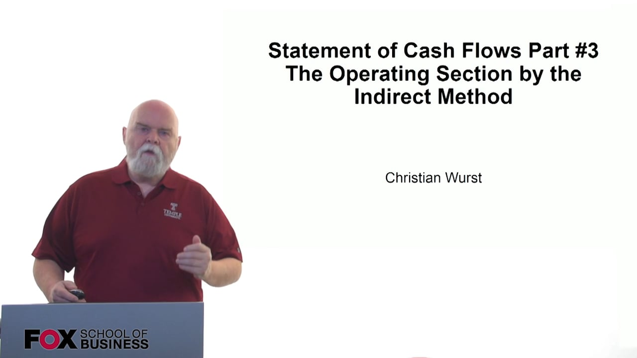 61167Statement of Cash Flows Part #3 – The Operating Section by Indirect Method
