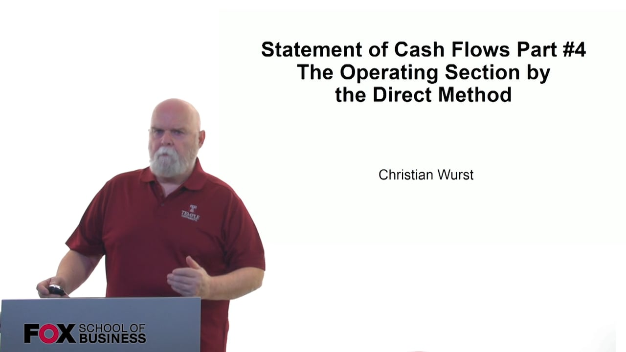61168Statement of Cash Flows Part #4 –  The Operating Section by the Direct Method