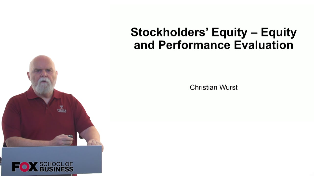 61172Stockholders Equity – Equity and Performance Evaluation
