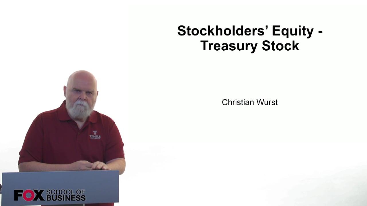 61170Stockholders Equity – Treasury Stock