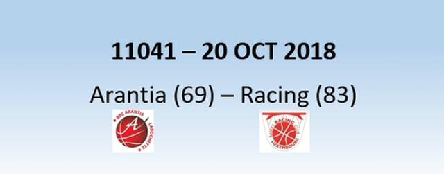 N1H 11041 Arantia Larochette (69) - Racing Luxembourg (83) 20/10/2018