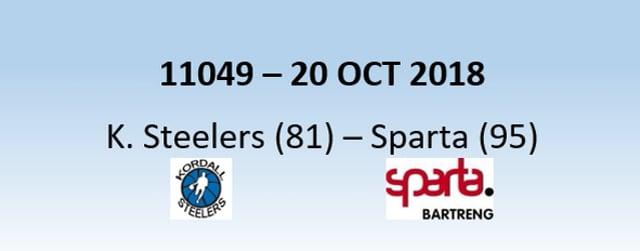N1H 11049 Kordall Steelers (81) - Sparta (95) 20/10/2018