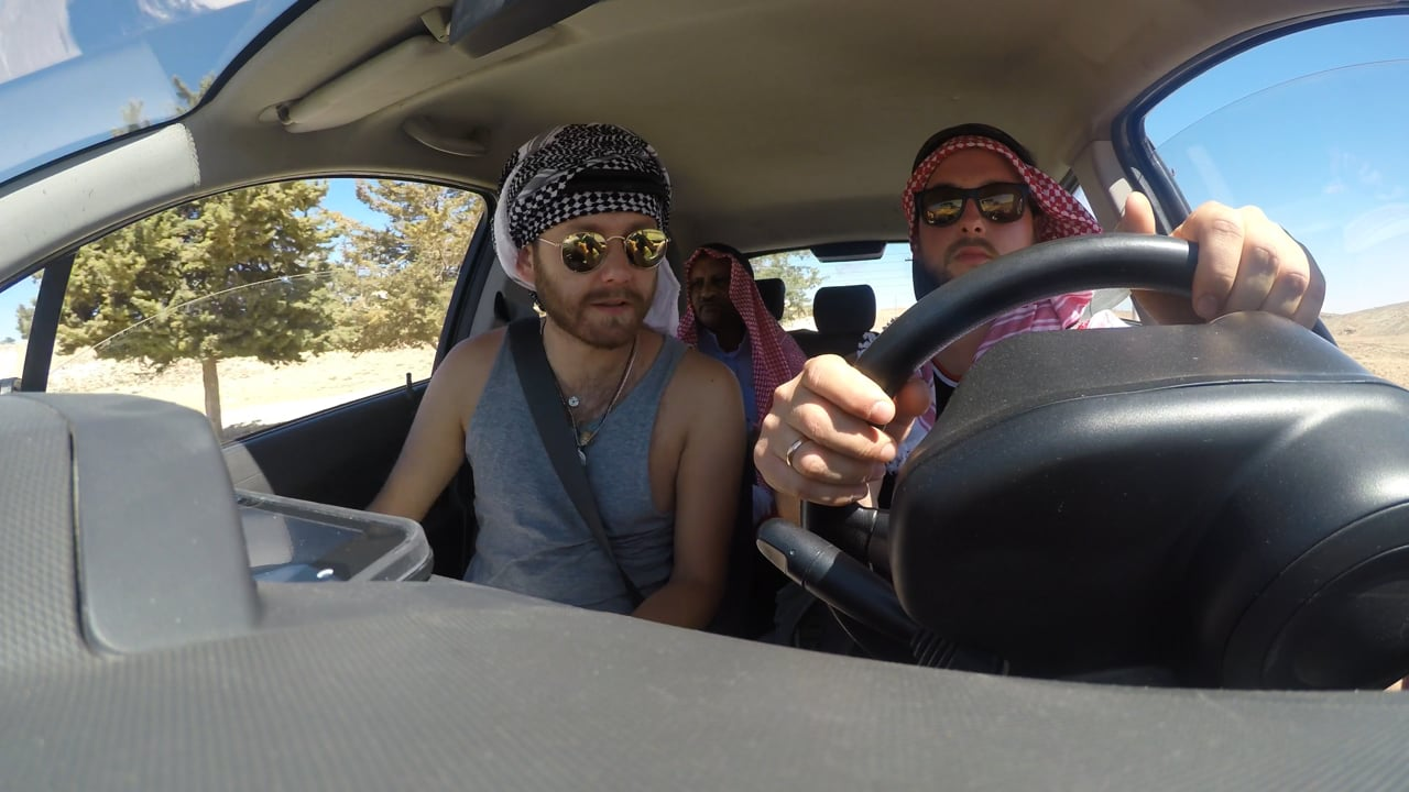 Our first hitchhiker in Jordan