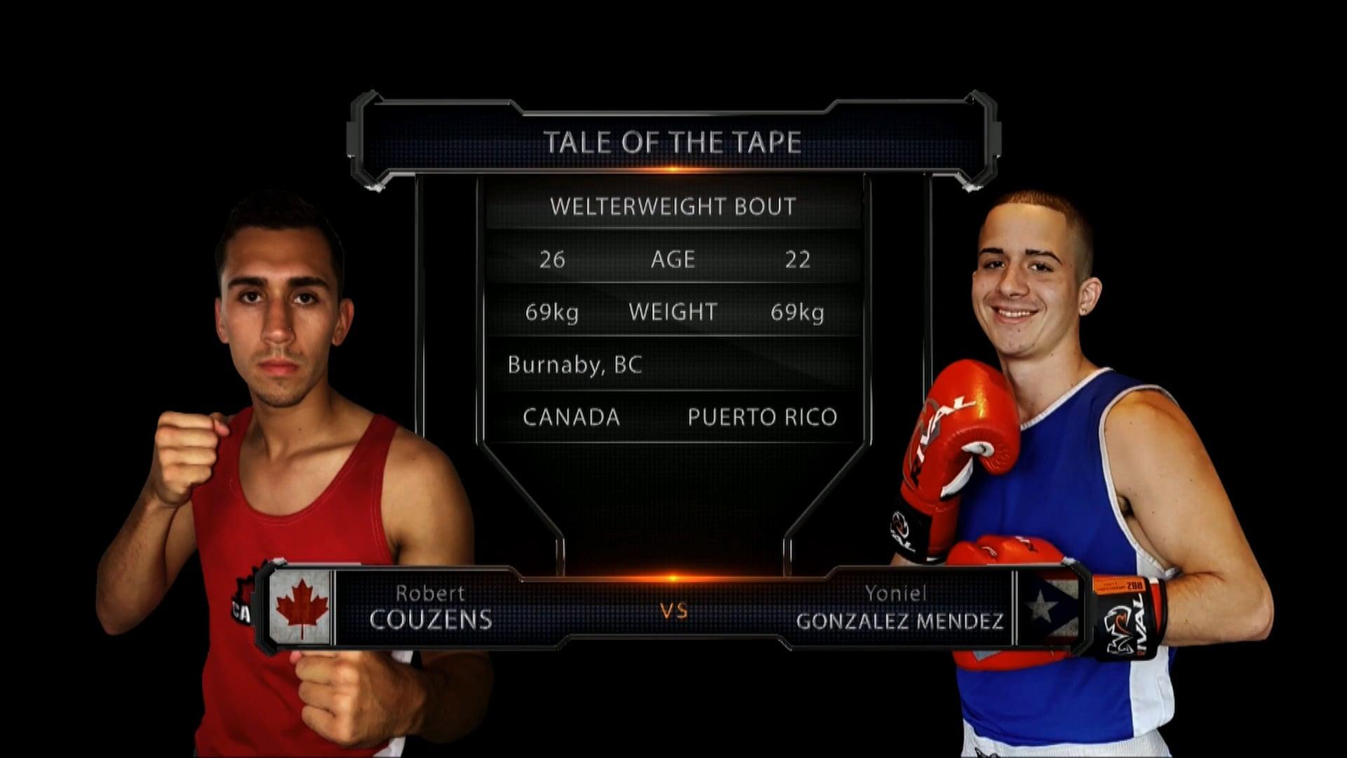 Couzens (CAN) vs Gonzalez Mendez (PR)