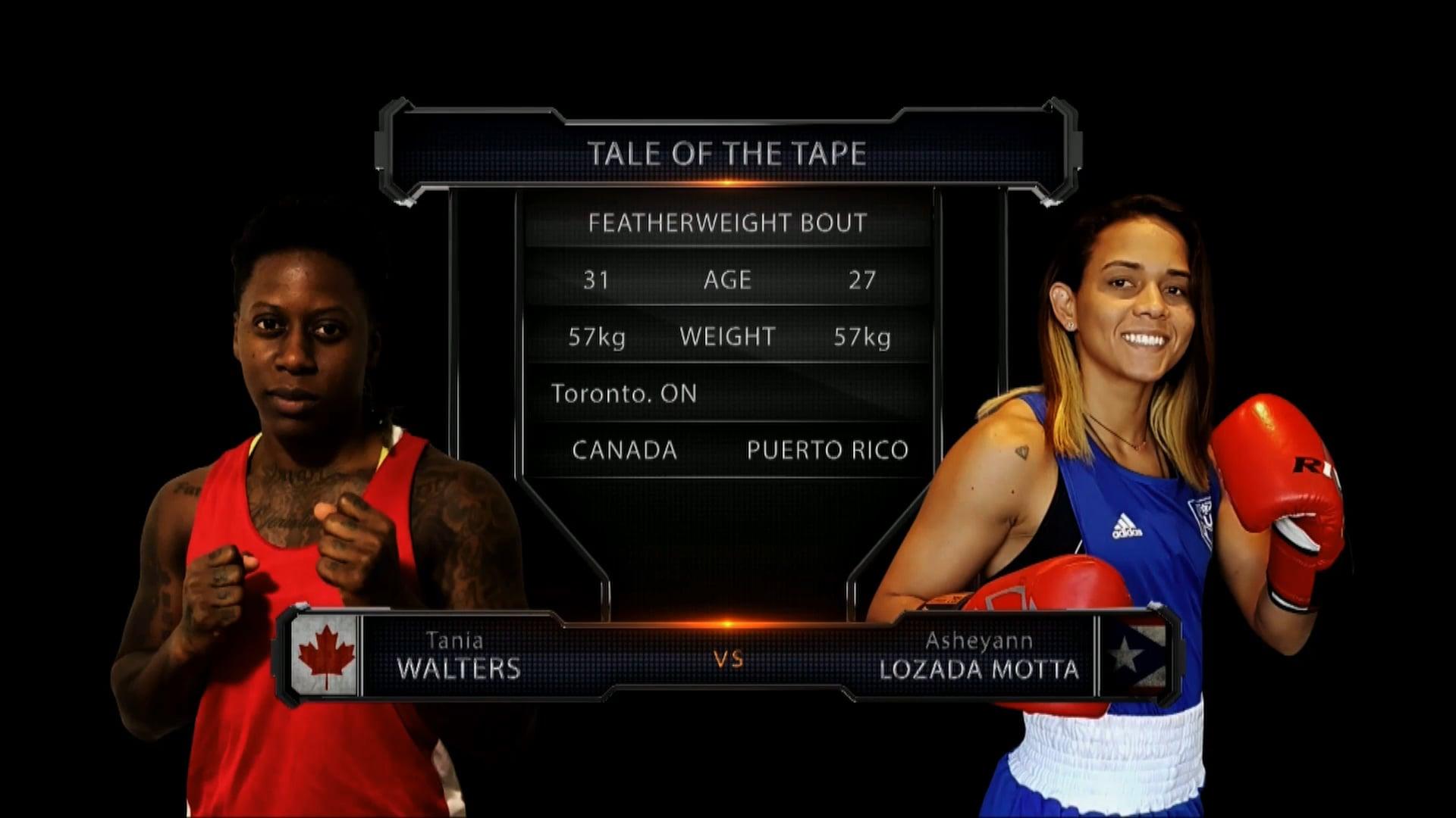 Walters (CAN) vs Lozada Motta (PR)