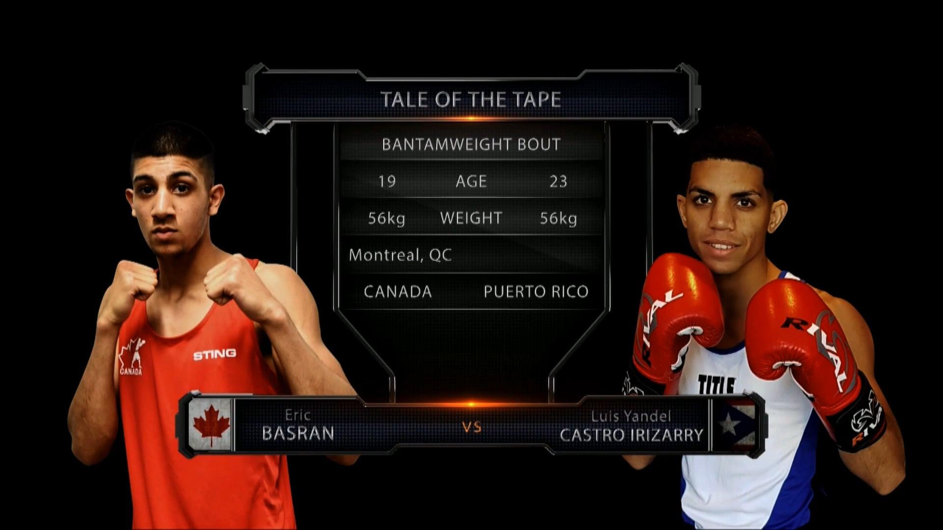 Basran (CAN) vs Castro Irizarry (PR)