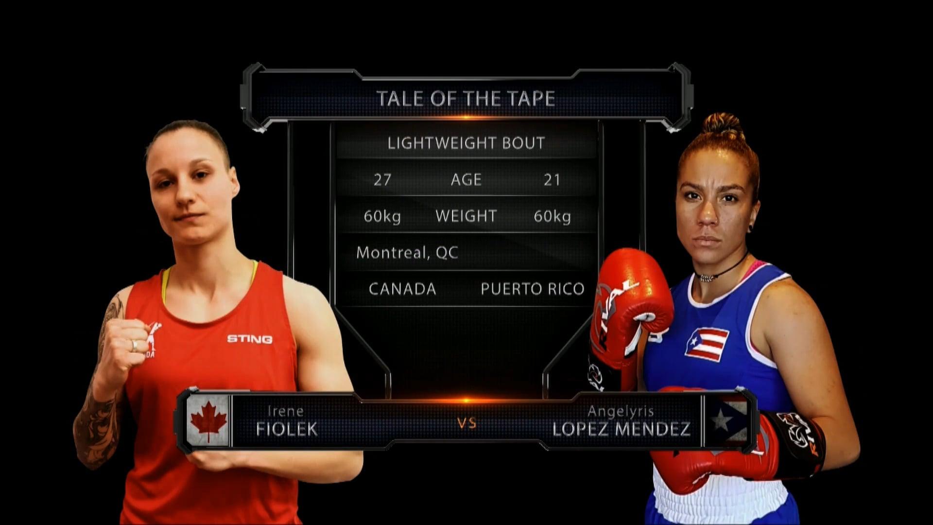 Fiolek (CAN) vs Lopez Mendez (PR)