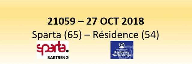 N1D 21059 Sparta (65) - Residence (54) 27/10/2018