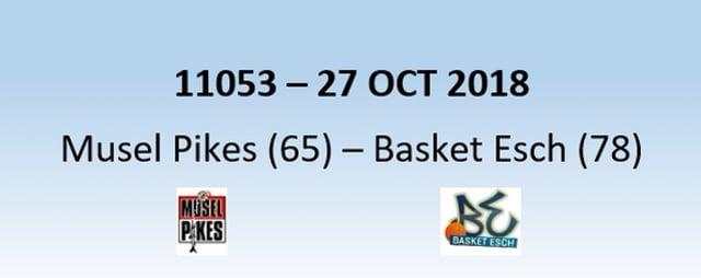 N1H 11053 MuselPikes (65) - Basket Esch (78) 27/10/2018