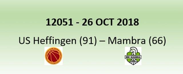 N2H 12051 US Heffingen (91) - Mambra Mamer (66) 26/10/2018