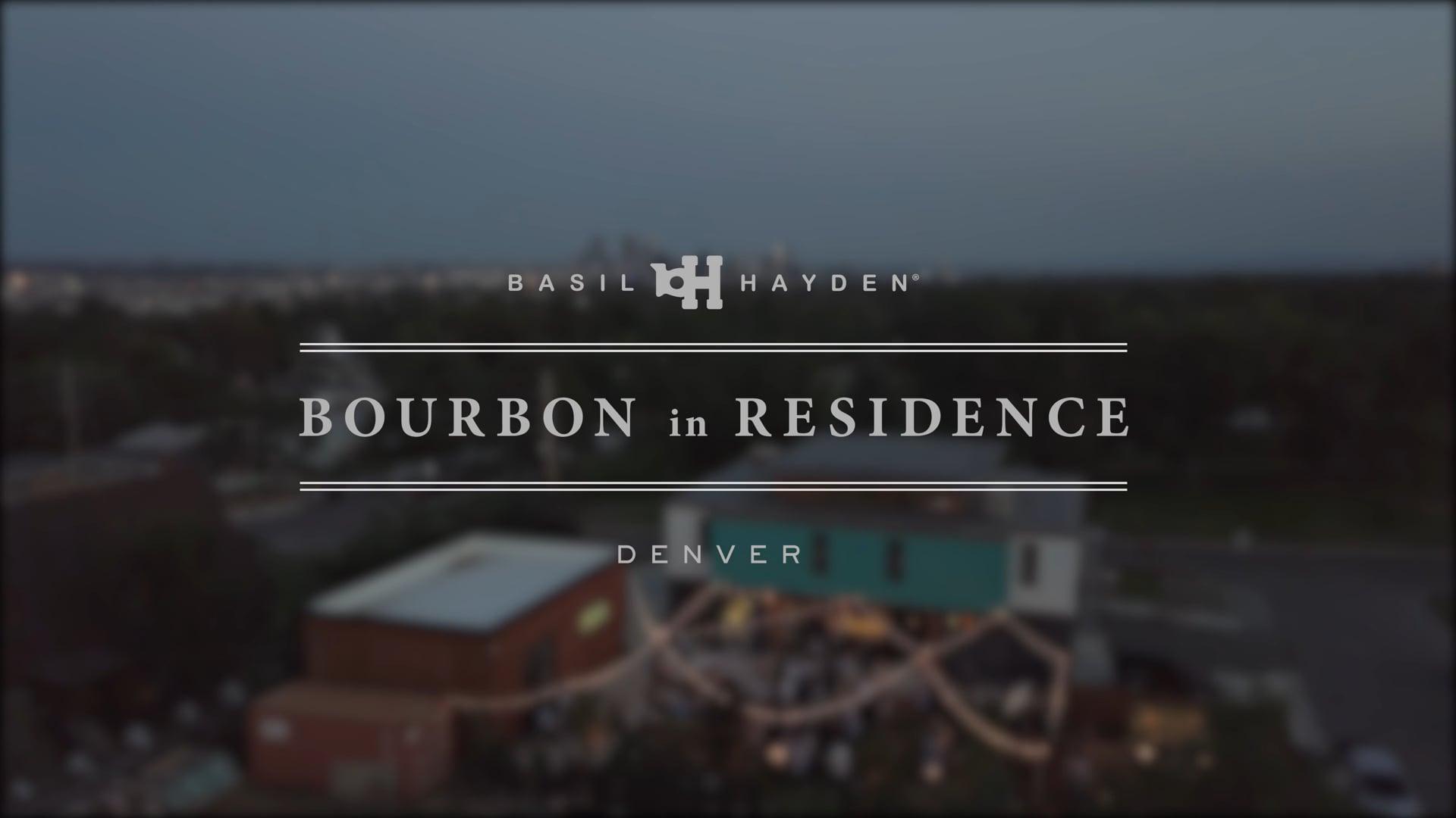 Promoción Basil Hayden's Bourbon In Residence   Denver 2018  Gradient Experiential   USA