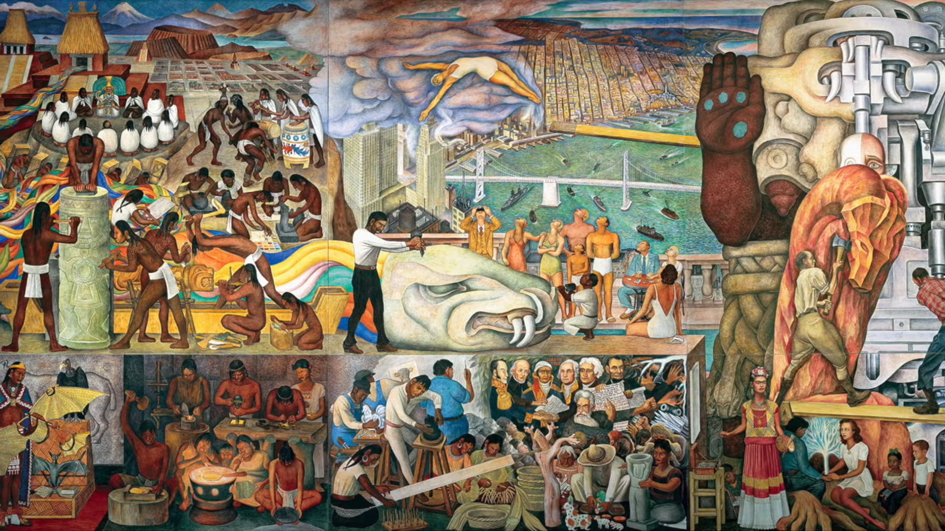 Pan American Unity Mural by Diego Rivera (Official Documentary)