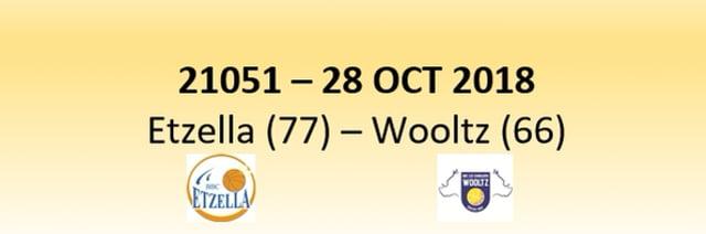 N1D 21051 Etzella (77) - Les Sangliers Wooltz (66) 28/10/2018