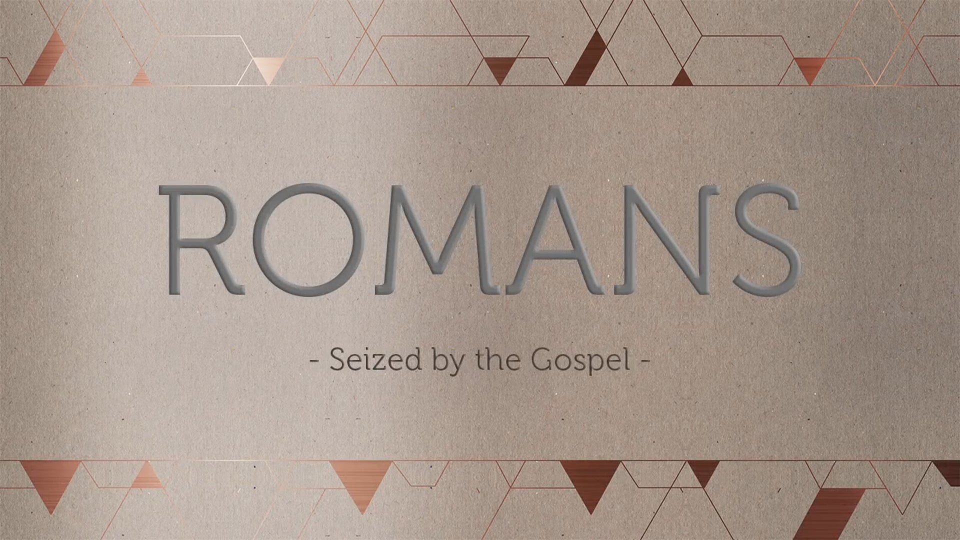 Week 8 - Peace With God: Romans 5:1-5